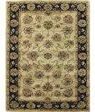 RugStudio presents KAS Taj Palace Allover Kashan Sand-Black 8744 Hand-Tufted, Better Quality Area Rug